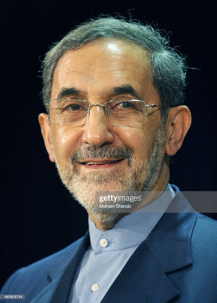 Iranian conservative Ali Akbar Velayati adviser to Iran's supreme leader Ayatollah Ali Khamenei speaks during a press conference after registering...
