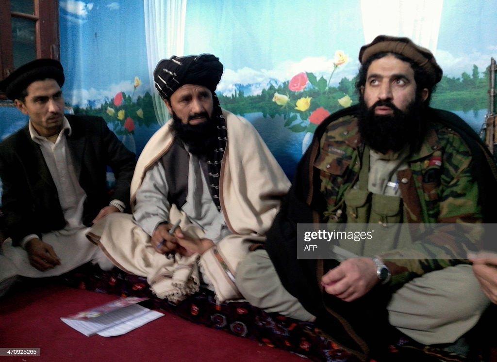 TehreekeTaliban Pakistan spokesman Shahidullah Shahid speaks during a press conference at an undisclosed location in Pakistan on February 21 2014...