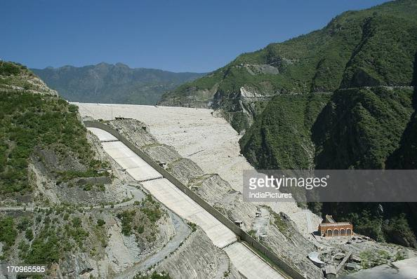 Tehri Dam reservoir and Hydroelectric project over Ganga river Garhwal Himalayas Uttarakhand India