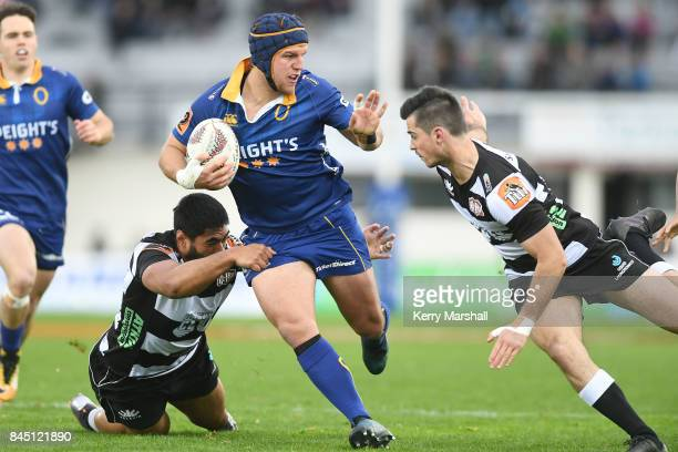 Teihorangi Walden of Otago in action during the round four Mitre 10 Cup match between Hawke's Bay and Otago at McLean Park on September 10 2017 in...