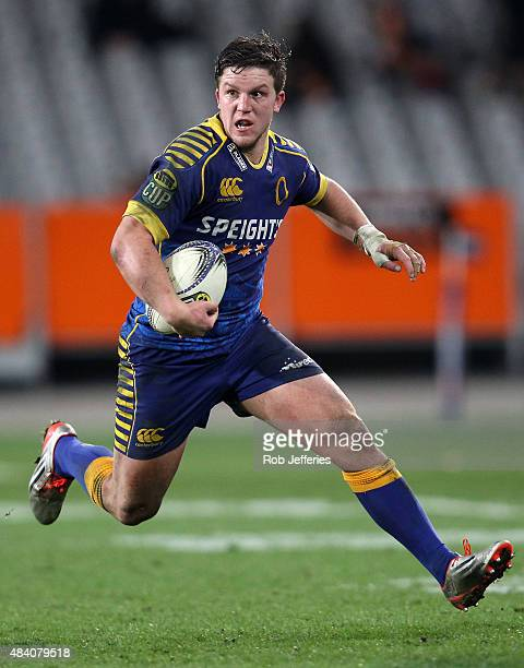 Teihorangi Walden of Otago on the attack during the round one ITM Cup match between Otago and Canterbury at Forsyth Barr Stadium on August 15 2015 in...
