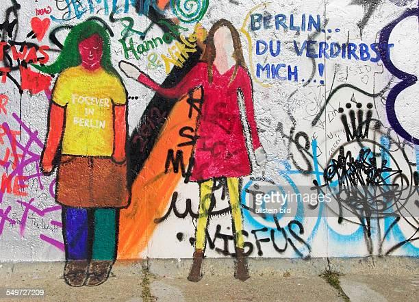 Teil der East Side Gallery Berliner Mauer