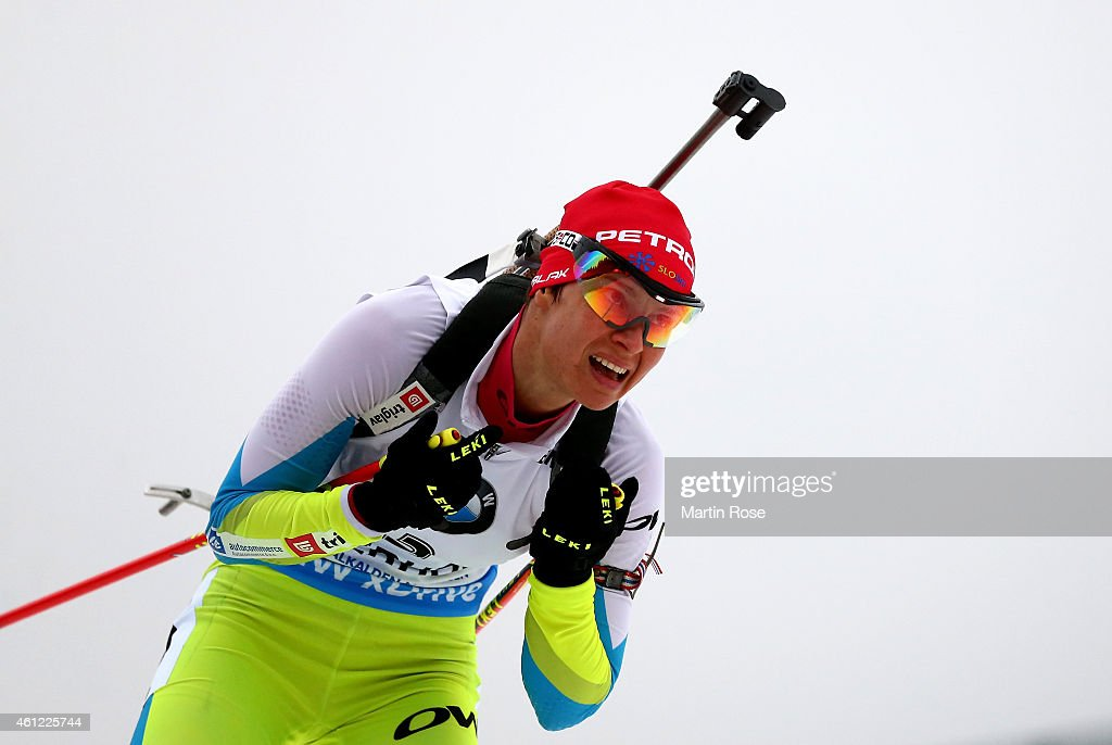 <a gi-track='captionPersonalityLinkClicked' href=/galleries/search?phrase=Teja+Gregorin&family=editorial&specificpeople=876933 ng-click='$event.stopPropagation()'>Teja Gregorin</a> of Slovenia competes during the Women's 7.5 km sprint of the BMW World Cup on January 9, 2015 in Oberhof, Germany.