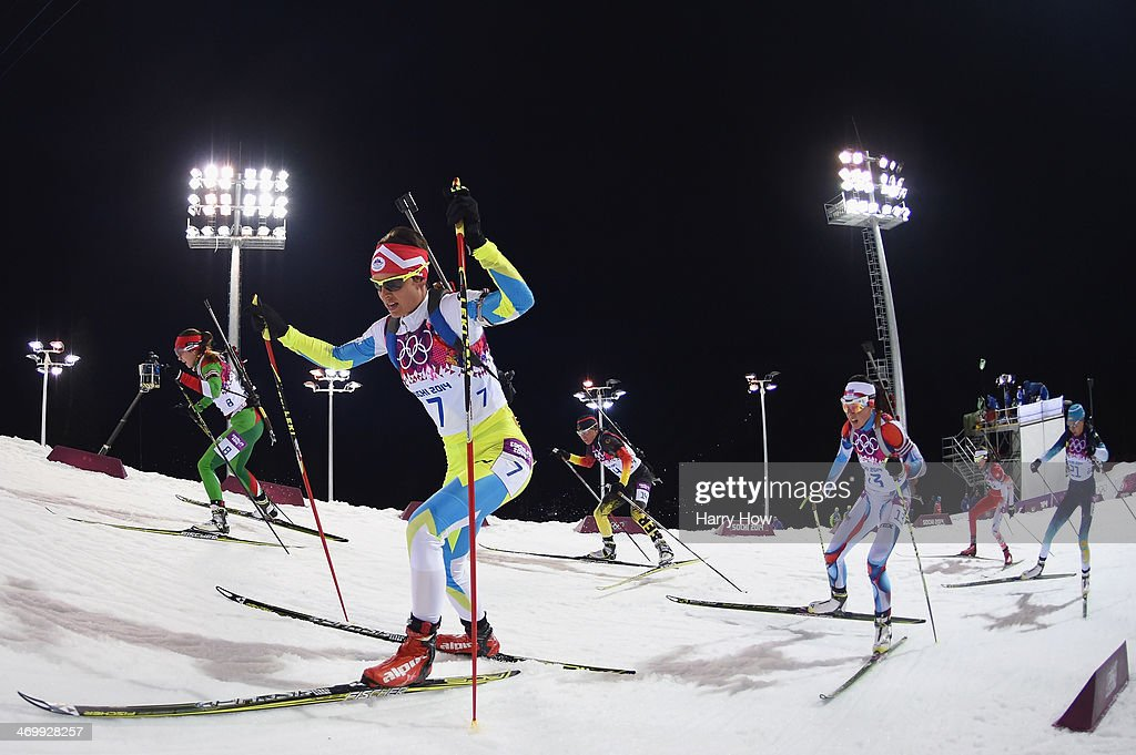 <a gi-track='captionPersonalityLinkClicked' href=/galleries/search?phrase=Teja+Gregorin&family=editorial&specificpeople=876933 ng-click='$event.stopPropagation()'>Teja Gregorin</a> of Slovenia competes in the Women's 12.5 km Mass Start during day ten of the Sochi 2014 Winter Olympics at Laura Cross-country Ski & Biathlon Center on February 17, 2014 in Sochi, Russia.