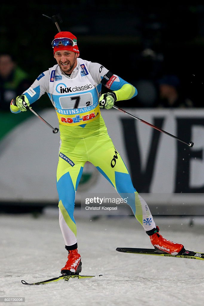 <a gi-track='captionPersonalityLinkClicked' href=/galleries/search?phrase=Teja+Gregorin&family=editorial&specificpeople=876933 ng-click='$event.stopPropagation()'>Teja Gregorin</a> of Slovenia skates during the IKK classic Biathlon World Team Challenge 2015 at Veltins-Arena on December 28, 2015 in Gelsenkirchen, Germany.