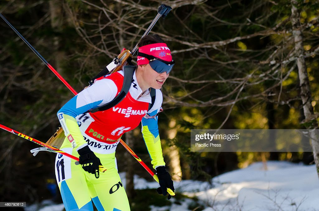 <a gi-track='captionPersonalityLinkClicked' href=/galleries/search?phrase=Teja+Gregorin&family=editorial&specificpeople=876933 ng-click='$event.stopPropagation()'>Teja Gregorin</a> (SLO) on the course during Biathlon World Cup 12,5km Mass Start Women on Pokljuka 2014.