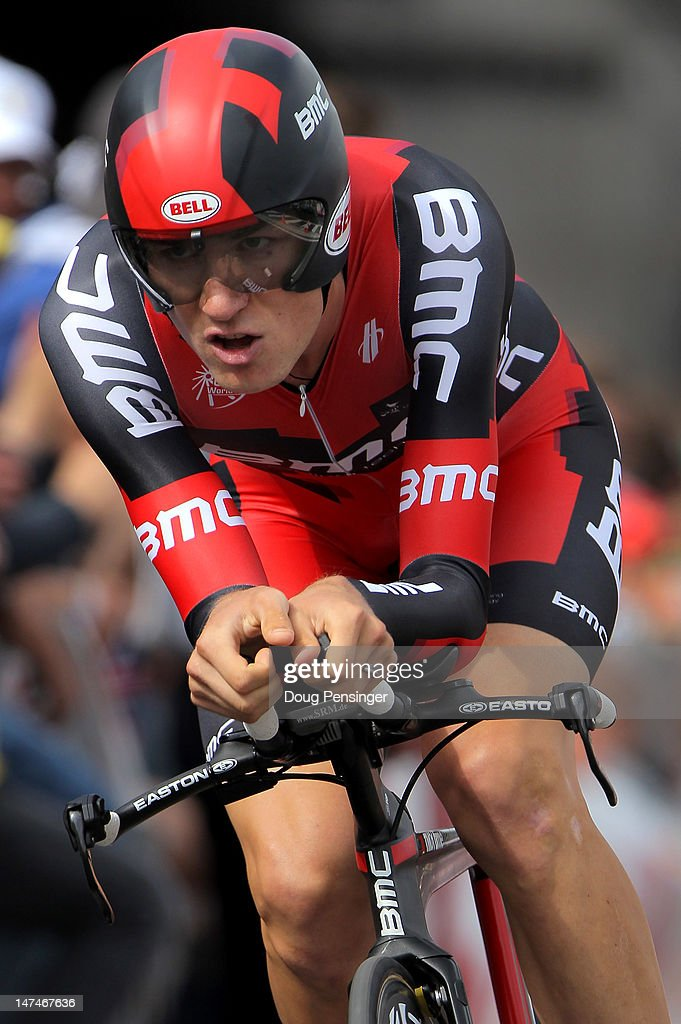 Tejay Van Garderen of the USA riding for BMC Racing races to fourth place in the prologue and earns the best young rider jersey in the 2012 Tour de France on June 30, 2012 in Liege, Belgium.