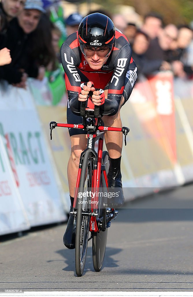 Tejay Van Garderen of USA and BMC Racing Team rides during the prologue of 2.9 km of the 2013 Paris-Nice on March 3, 2013 in Houilles, Yvelines, France.