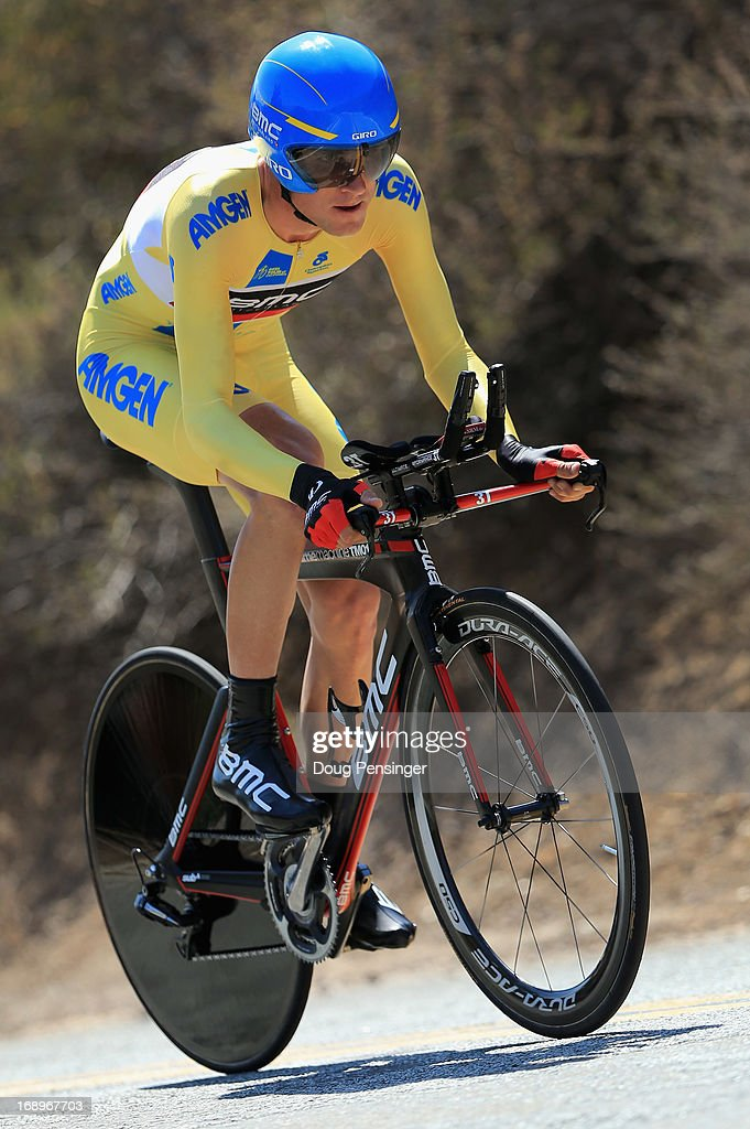 Tejay van Garderen riding for BMC Racing rides to victory in the Individual Time Trial during Stage Six and defends the overall race leader's jersey in the 2013 Amgen Tour of California on May 17, 2013 in San Jose, California.