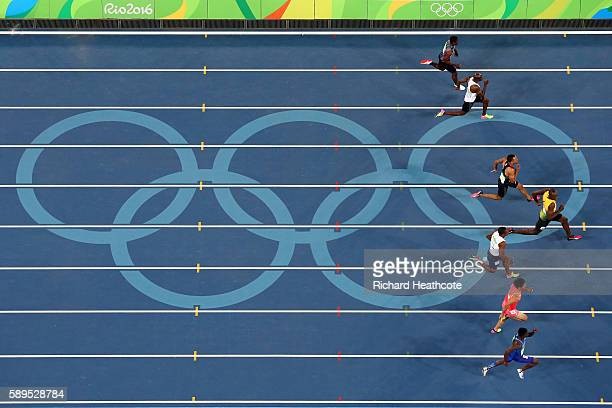 Tejhae Greene of Antigua and Barbuda Kim Collins of Saint Kitts and Nevis Andrew Fisher of Bahrain Andre De Grasse of Canada Usain Bolt of Jamaica...