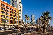 Tel Aviv, bicycles on the seaside