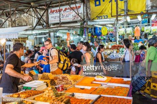 Tel Aviv, Carmel Market, sweet seller