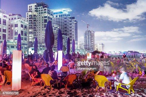 Tel Aviv, Jerusalem beach, Friday night party