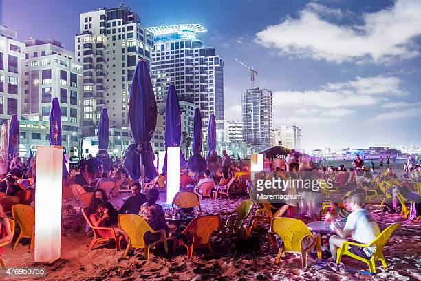 Tel Aviv, Jerusalem beach, Friday night party