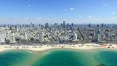 Tel Aviv skyline - Aerial photo