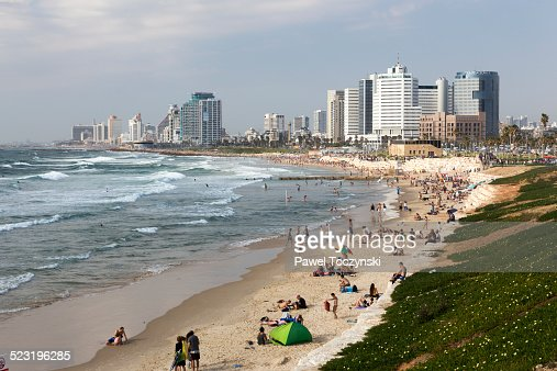 Tel Aviv skyline seen from Jaffa on a afternoon