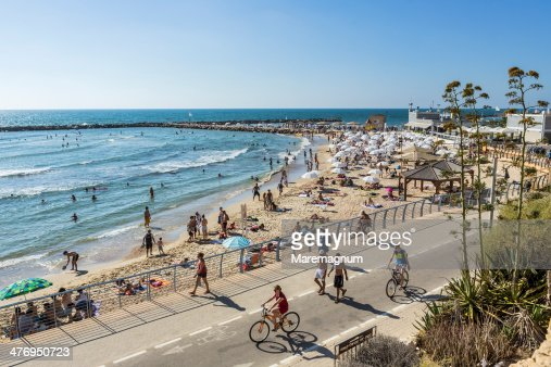 Tel Aviv, view of the Hilton beach