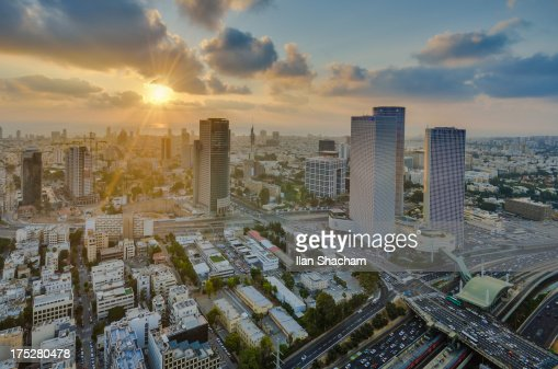 Tel-Aviv Azrieli Sunset