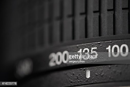 Tele zoom camera lens closeup : Stock Photo