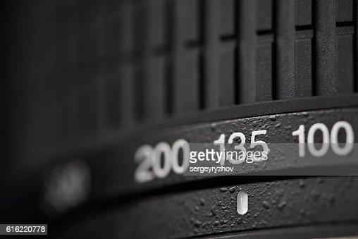 Tele zoom camera lens closeup : Stockfoto