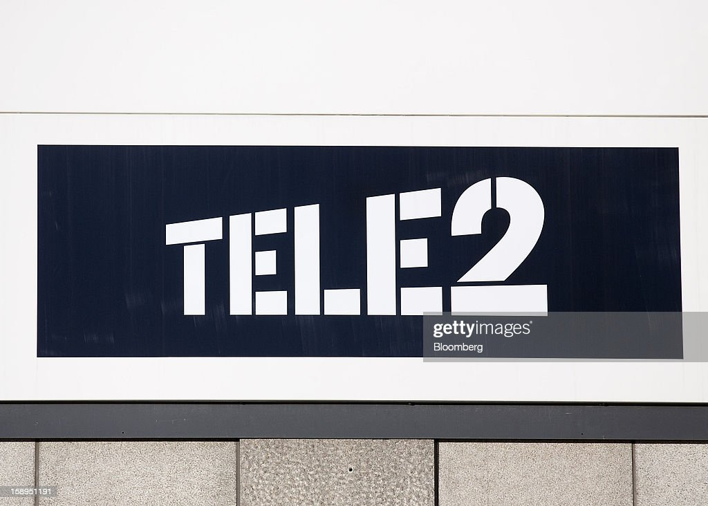 A Tele2 AB logo stands on display in Stockholm, Sweden, on Friday, Jan. 4, 2013. OAO Rostelecom's largest owner after the Russian state, Konstantin Malofeev, is urging the country's dominant fixed-line operator to buy the local unit of Sweden's Tele2 AB to form a fourth nationwide wireless carrier. Photographer: Casper Hedberg/Bloomberg via Getty Images