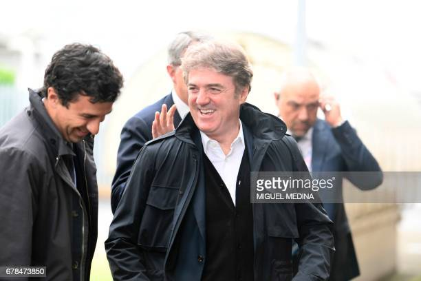 Telecom Italia CEO's Flavio Cattaneo arrives the General meeting of shareholders of Telecom Italia with the group's managers and its main shareholder...