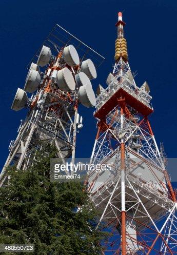 Antenas de Telecomunicações : Foto de stock