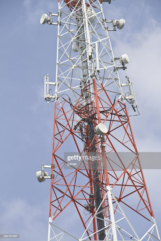 Telecommunications tower : Stock Photo
