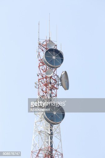 Telecommunications tower. : Stock Photo