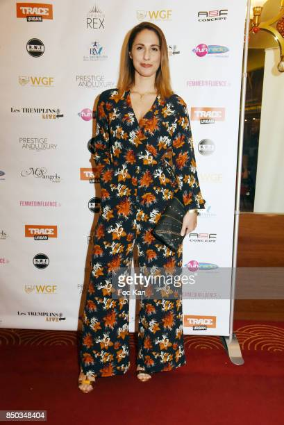 Telefoot presenter Charlotte Namura poses at the Photocall of ' Les Tremplins Act1 Live ' Auction Show at Rex Club on September 20 2017 in Paris...