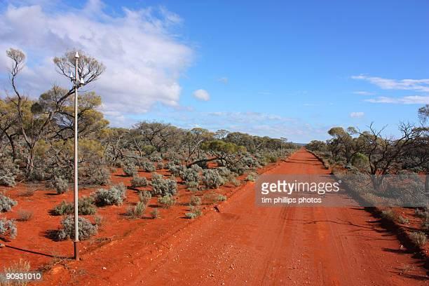 Telegraph road outback australia
