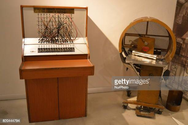 A telegraph switchboard is seen at the PTT Stamp Museum in Ankara Turkey on July 21 2017