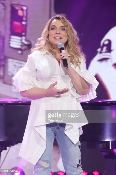 UNIDOS Telemundo's Primetime Special from Cisneros Studio in Miami FL Pictured Ednita Nazario on Sunday September 24 2017