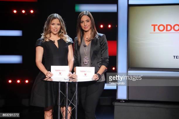 UNIDOS Telemundo's Primetime Special from Cisneros Studio in Miami FL Pictured Ximena Duque and Erika Csiszer on Sunday September 24 2017