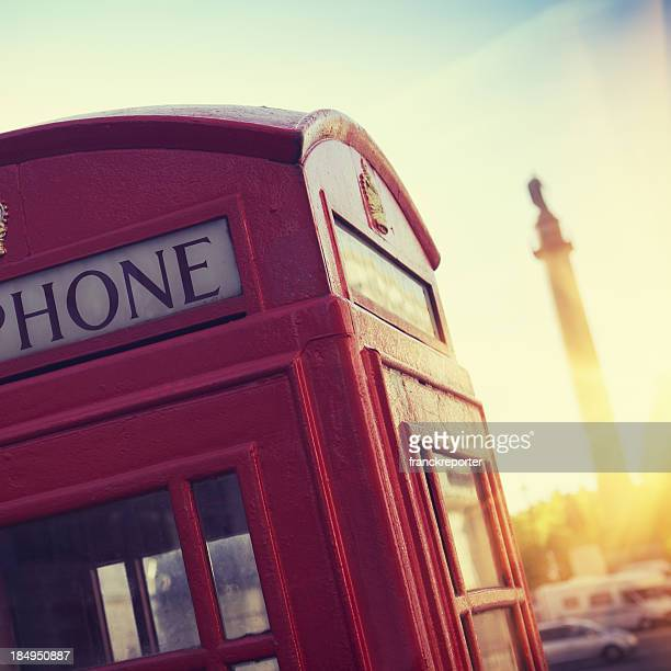 Telephone Booth on London Street at sunset