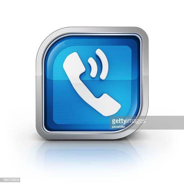 Icône de téléphone, appelez le