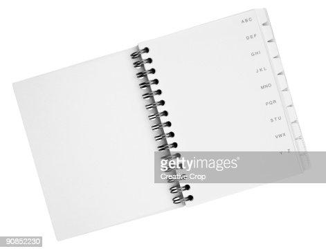 Telephone index book : Stock Photo