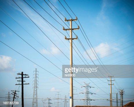Telephone Pole and Electricity Pylon