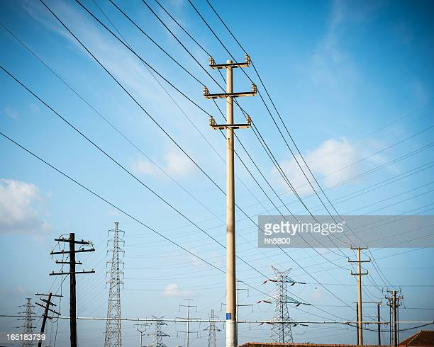 Telephone Pole and Electricity Pylon