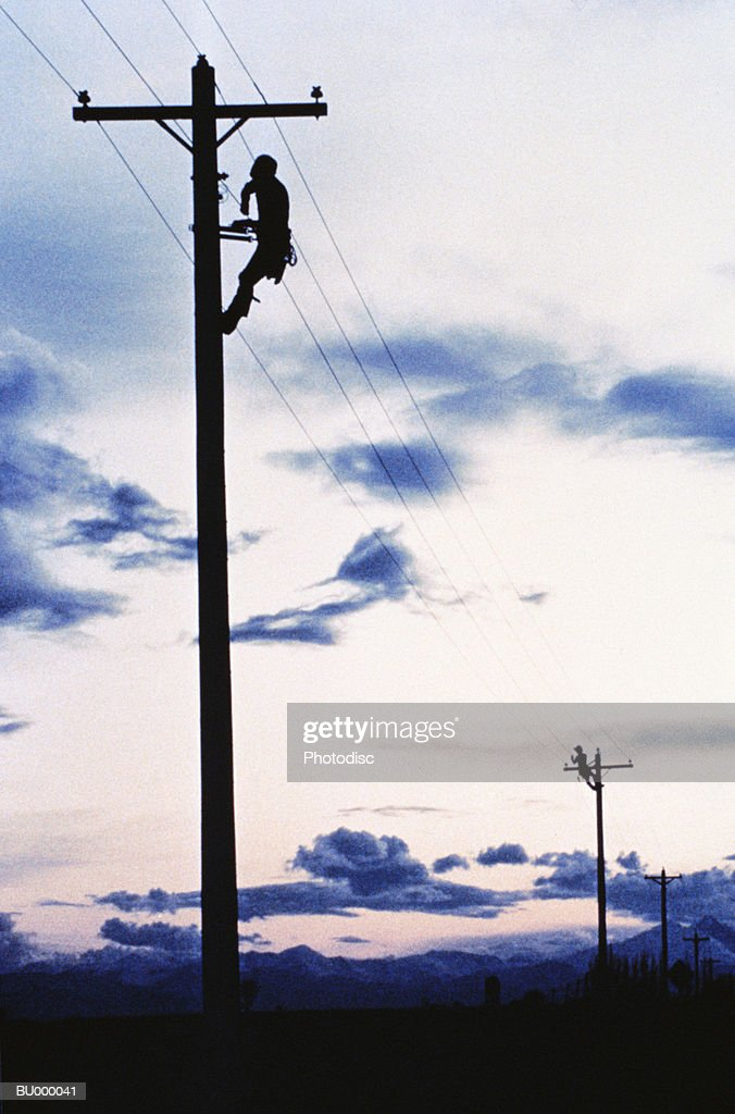 Telephone Pole and Lineman