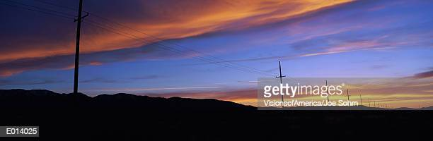 Telephone Poles at Sunset