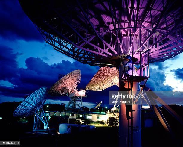 Telephone satellite dishes