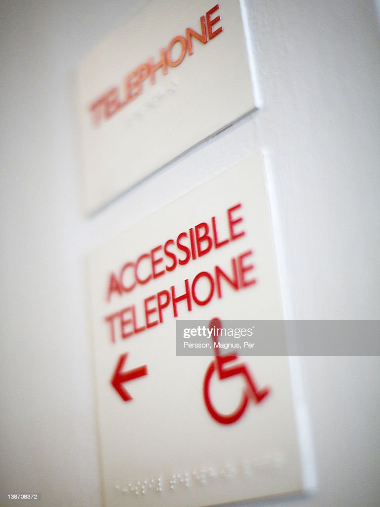Telephone sign in hotel