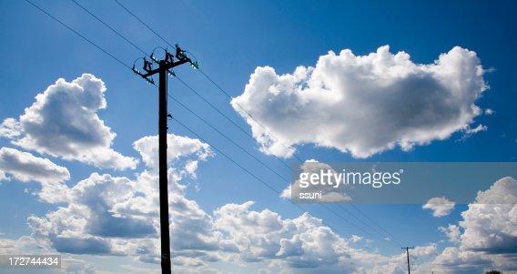 telephone sky