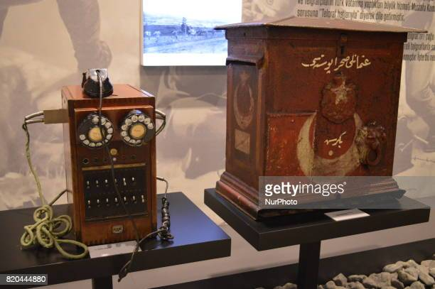 A telephone switchboard is seen at the PTT Stamp Museum in Ankara Turkey on July 21 2017