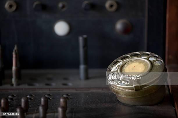 Standard téléphonique, vieux façonné, composez le et prises