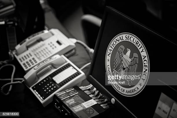 Telephones inside the National Security Agency headquarters in Fort Meade Maryland outside Washington DC The NSA is the central producer and manager...