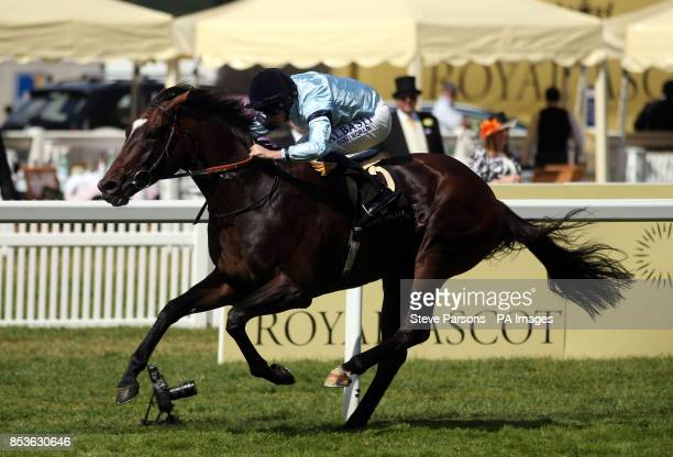 Telescope ridden by Ryan Moore wins the Hardwicke Stakes during Day Five of the 2014 Royal Ascot Meeting at Ascot Racecourse Berkshire