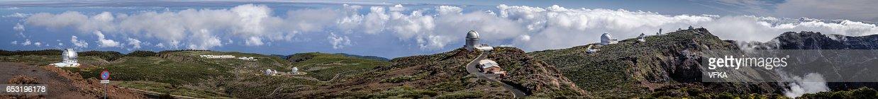 Telescopes on Roque de los Muchacos, La Palma, Spain : Photo