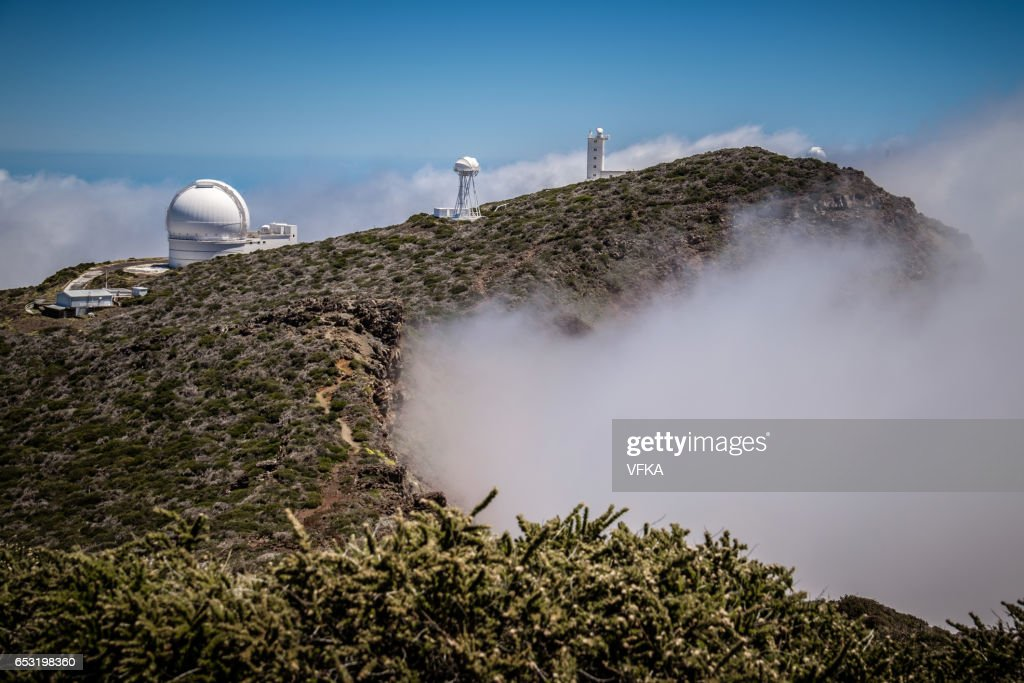 Telescopes on Roque de los Muchacos, La Palma, Spain : Stock-Foto